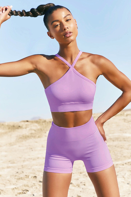 Summer Women Yoga Set Fitness Workout Sports Suits Sexy Camisole Tops Leggings Shorts 2-piece Sportswear Gym Set Tracksuit