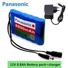 Panasonic 18650 Li-Ion Battery Portable Rechargeable Battery DC 12 V 12.6 V 8800 mAh Battery/12.6V Battery Pack +12.6V1A Charger(China)