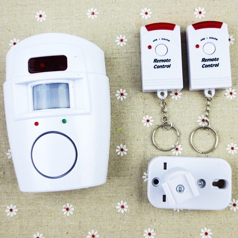 Wireless Motion Sensing Alarm Security Device With Remote Control For Garden Sheds Garage GV99