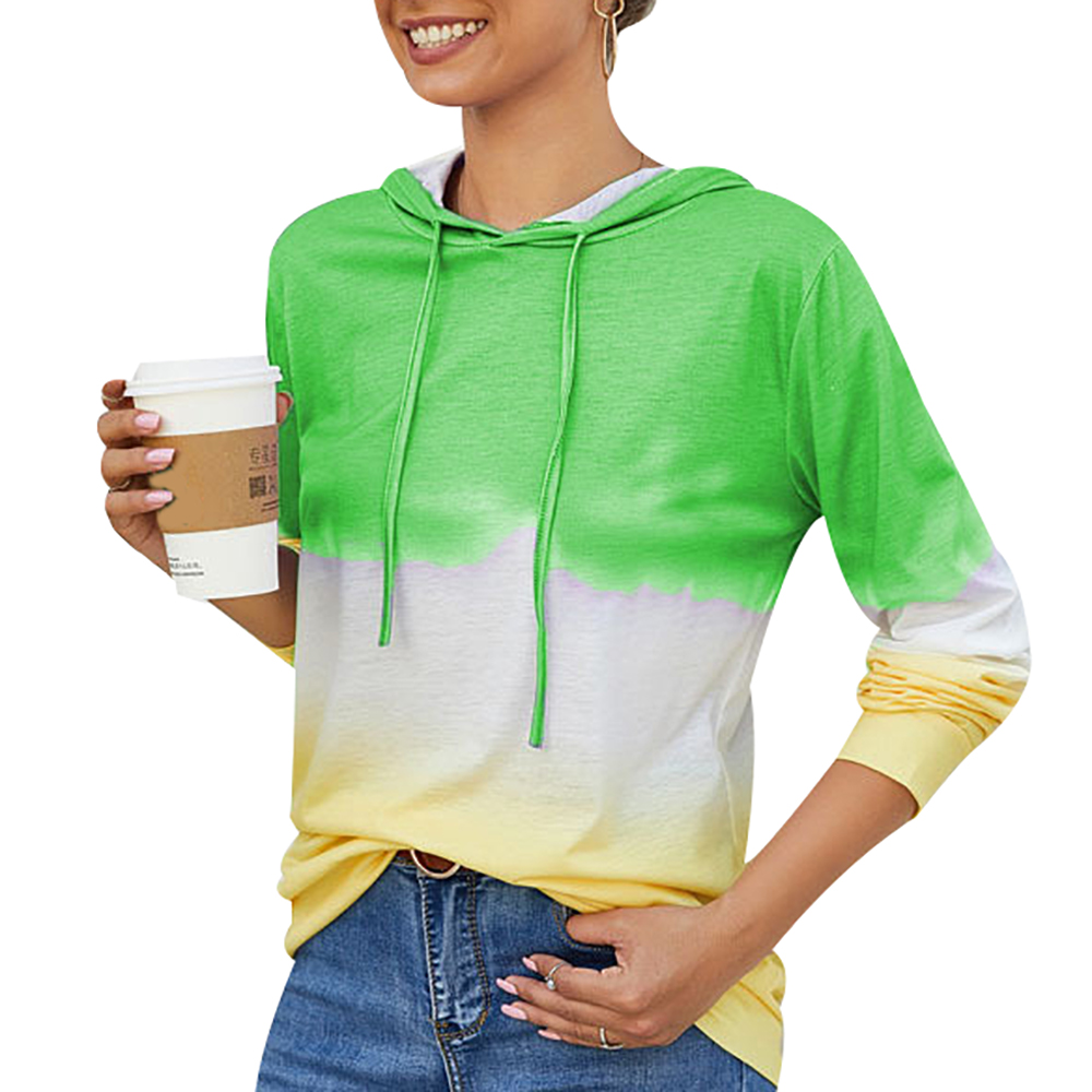 2019 Autumn Winter Gradient Rainbow Printed Sweatshirts Oversize Pullover Loose Women Hoodies Sweatshirt Female Casual Coat