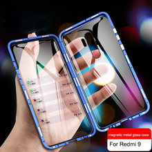 360 Magnetic Adsorption Metal Case for Xiaomi 10 Lite Redmi Note 9s 8 8T 7 Pro 9A K20 Mi 10 9T 10T Pro Double-Sided Glass Cover