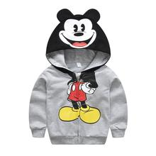 Baby Boys Jackets Hoodie Children Clothing Costume Mickey Autumn Hooded Sweatshirt For Boys Coats Kids Clothes Tops Outerwear