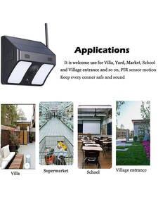 1080P wide-angle solar battery ip66 outdoor WiFi IP camera Wall Light Surveillance Camera for Garden Patio Yard Courtyard Path