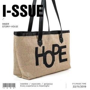 Image 4 - Europejski styl oryginalny Design juty torebki torba na ramię dla ucznia na zakupy torba eko