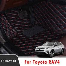 Esteiras do assoalho carro para toyota rav4 rav 4 iv xa40 2018 2017 2016 2015 2014 2013 acessórios auto personalizado à prova dwaterproof água proteger tapetes