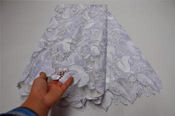 High Quality African Tulle Guipure Cord Lace Fabric Latest Nigerian French Network Cord Lace Fabric For Dress    WDP-412