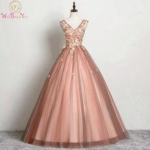 Женское бальное платье с кружевной аппликацией без рукавов на