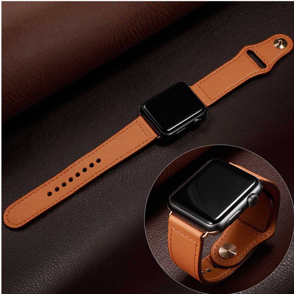 Leather Strap For Apple Watch Band Pulseira Apple Watch 5 4 3  Band 44mm/40mm Iwatch Band 42mm/38mm Correa Bracelet Watchband