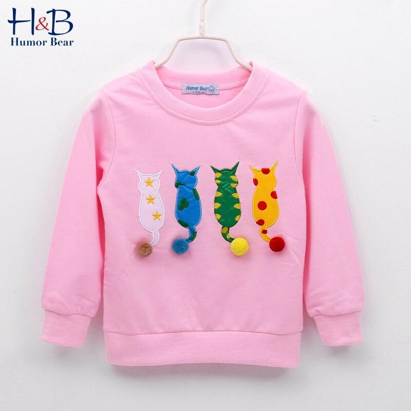 Humor Bear Baby Kids Sweater Autumn Long-sleeve T-shirt  Boy Girls Children Clothes Cartoon Child Coat Outwear Clothing 2-7Y