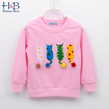 Humor niedźwiedź dziecko dzieci sweter jesień z długim rękawem T-shirt chłopiec dziewczyny dzieci ubrania kreskówka dziecko płaszcz znosić odzież 2-7Y tanie tanio Humor Bear CN (pochodzenie) Modalne COTTON Na co dzień Zwierząt REGULAR O-neck BL593-A Pełna NONE Pasuje prawda na wymiar weź swój normalny rozmiar