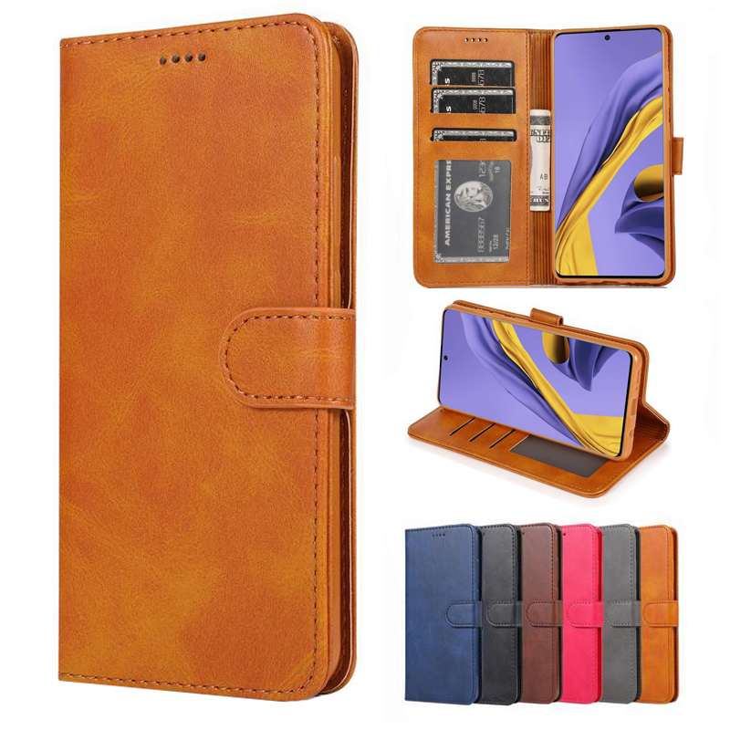 <font><b>Flip</b></font> Magnetic Luxury Leather Case For <font><b>Samsung</b></font> Galaxy A01 A11 A21 A41 A31 A51 A71 A81 A91 Soft <font><b>Cover</b></font> Wallet Book Bag A30S <font><b>A50S</b></font> image