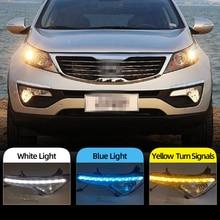 LED DRL Daylight Kia Sportage Signal Daytime Running-Light for Yellow Fog-Lamp Car-Flashing-1set