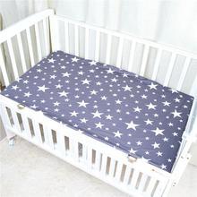 Хлопковое Детское покрывало на кровать, мягкое дышащее постельное белье для кроватки, Впитывающее влагу и вентиляционное детское постельное белье, матрас