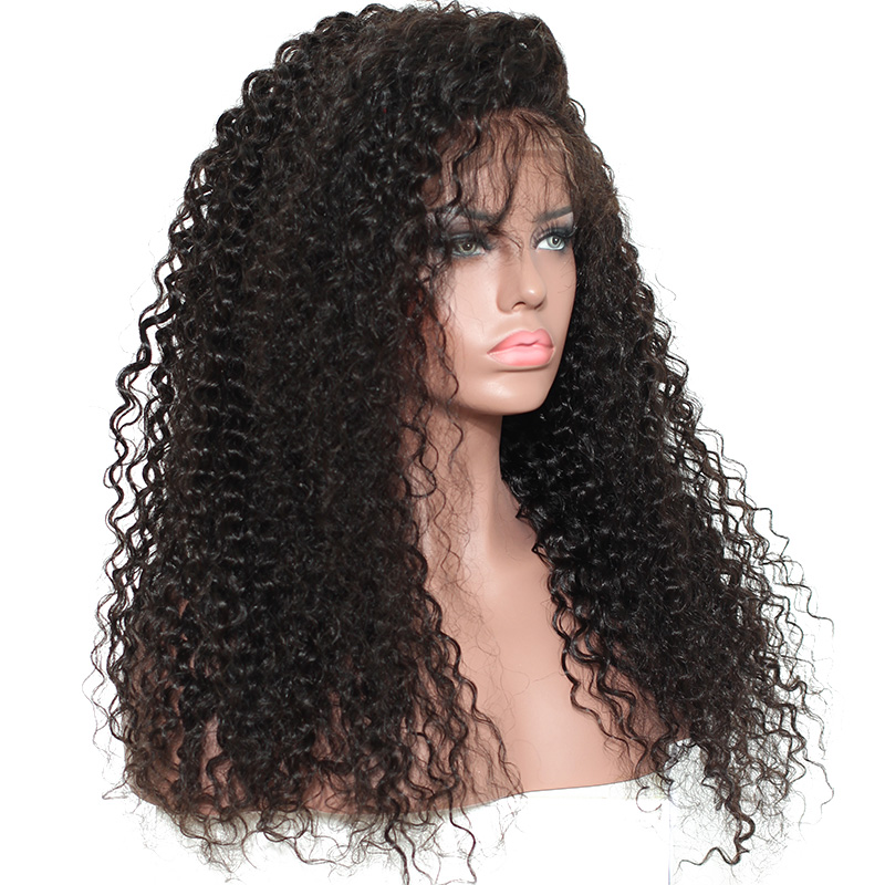 Loose Curly <font><b>Wig</b></font> Transparent Full Lace <font><b>Wigs</b></font> For Women Black Color <font><b>250</b></font> <font><b>Density</b></font> Brazilian <font><b>Human</b></font> <font><b>Hair</b></font> Gluless Full Lace <font><b>Wigs</b></font> Remy image