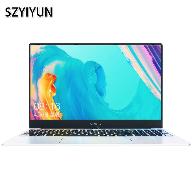15.6'' Intel I7 8GB RAM Laptop 1080P Windows 10 Full Layout Keyboard Metal Gaming Laptop Student Netbook Portable Office Netbook