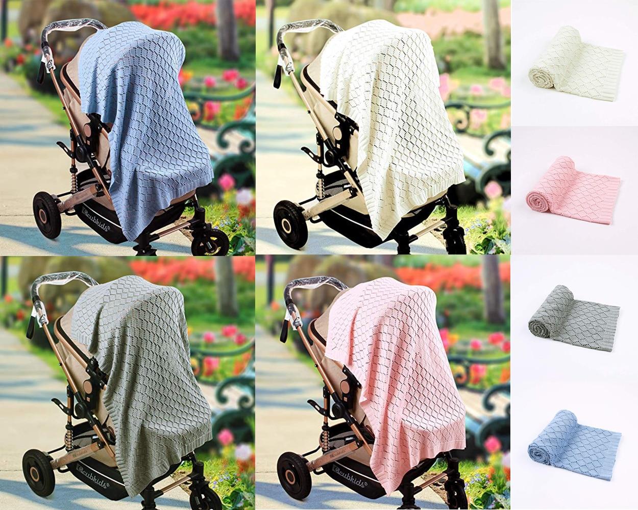 Newborn Baby Boy Girl Blanket Swaddle Wrap Warm Blankets Soft Breathable Knitted Sleep Blankets