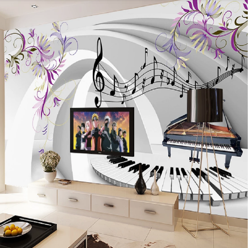 Custom large mural 3D wallpaper Modern creative 3D expansion space piano music bedroom TV wall decor deep 5D embossed image