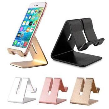 Soporte Universal de la tableta del metal de aluminio de la base del teléfono móvil para el soporte de la base del teléfono del iPhone X/8/7/6/5 Plus Samsung/mijo
