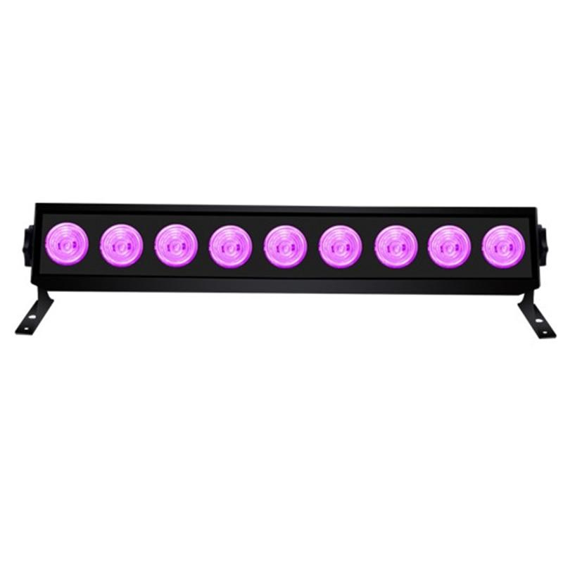 9 Светодиодный УФ вечерние диско Рождество бар черный лампа УФ Фиолетовый прожекторы Светодиодный сценический эффект светильник s черный