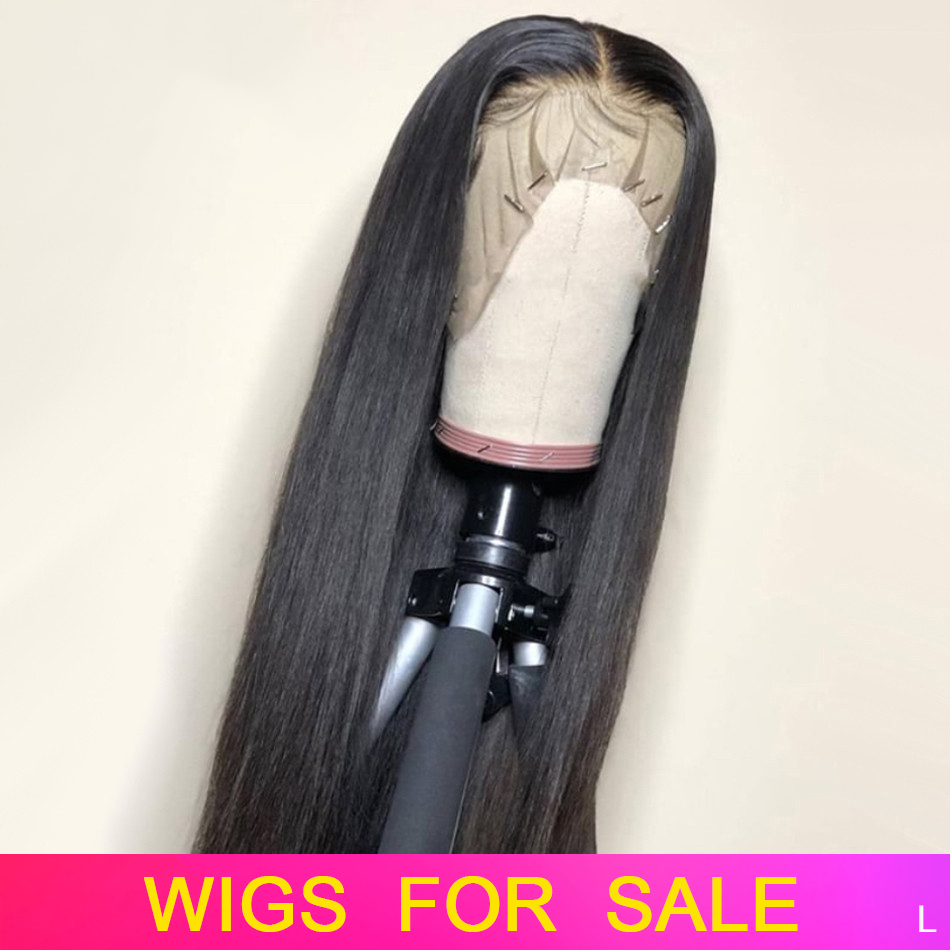 13x4 Remy Straight Lace Front Human Hair Wigs Brazilian Human Hair Wig Extensions For Black Women PrePlucked With Baby Hair 150%