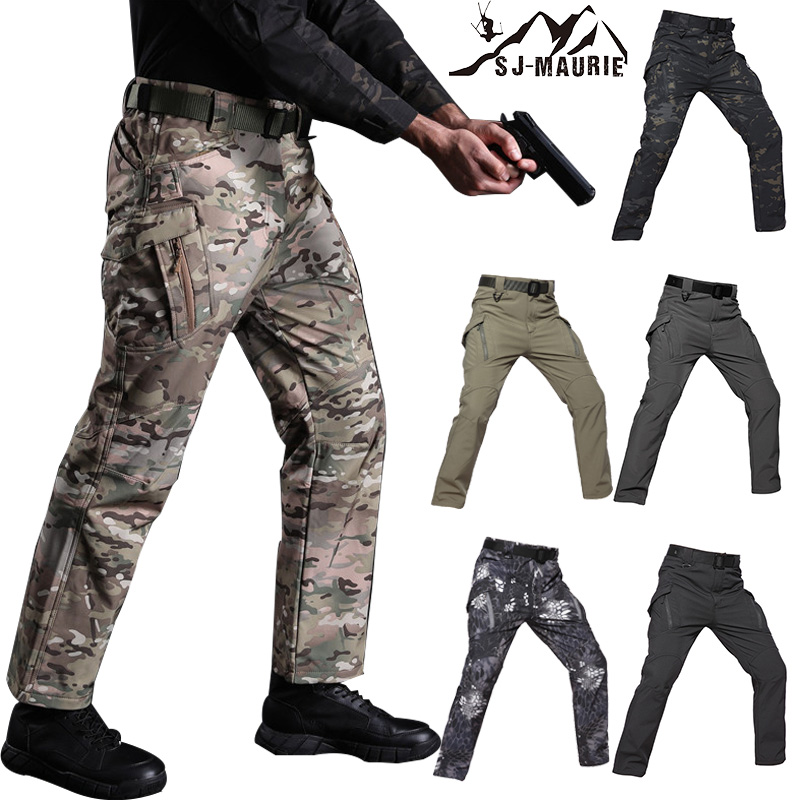 SJ-Maurie Men Military Hiking Pants Outdoor Waterproof Pants Combat Training Tactical Climbing Pants Trousers For Hiking Hunting