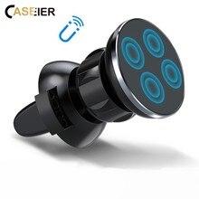 CASEIER Magnético suporte celular para carro Suporte Do Telefone Do Carro Para o iphone Samsung 360 Ar Montar Titular Ímã Para O Telefone no Carro GPS Suporte Universal titulares