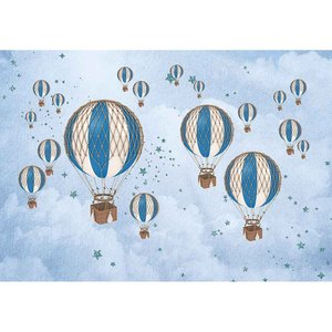 Image 3 - Funnytree熱気球背景写真撮影飛行機クマ冒険1st誕生の背景ベビーシャワー少年パーティーの装飾ビニール