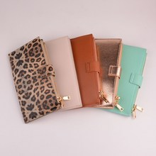 2020 New Hot Sell Key Card Bag for Women Men Leopard Coin Purse PU Leather Wallet Double Zipper Kabaw Fashion Key Wallet Jewelry hot sell new thick purse fashion women zipper wallet wristlet bag with serpentine genuine cow leather