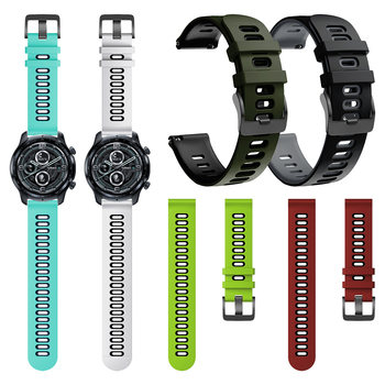 Sports Silicone Wrist Band For TicWatch Pro 3 GPS Watch Strap Watchband for TicWatch GTX TicWatch pro 2020 Bracelet Accessories