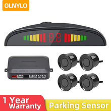 Carro led sensor de estacionamento kit 4 sensores 22mm backlight display reverso backup radar monitor sistema 12v 6 cores