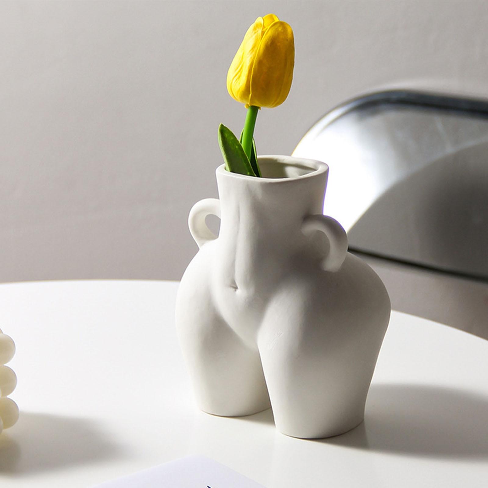 Ludzki wazon tyłek nagie rękodzieło meble kwiat dekoracyjny do domu układ kobieta wazony na kwiaty Home Decor prezent