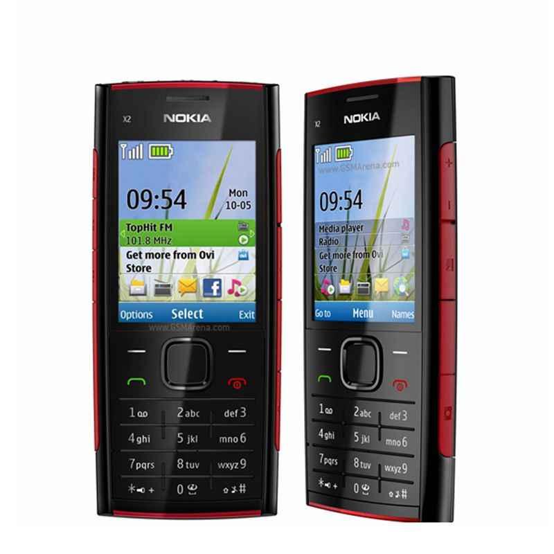 Nokia X2-00 Điện Thoại Di Động Bluetooth FM MP3 MP4 Cầu Thủ Gốc Nokia X2 Hỗ Trợ Nga Bàn Phím Giá Rẻ Mở Khóa Điện Thoại