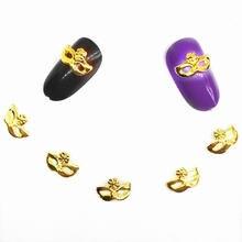 Украшения для дизайна ногтей с блестками 3d Подвески металлические
