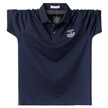 Men Polo Shirt Mens Soild Polo Shirts Cotton Polo Shirt Casual Business Summer Clothing Simple Brown Men Tops Tees 6XL Big Size