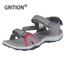 Grition sandálias femininas verão plataforma macia casual antiderrapante leve salto plano feminino sandálias ao ar livre sapatos de praia mais tamanho 41