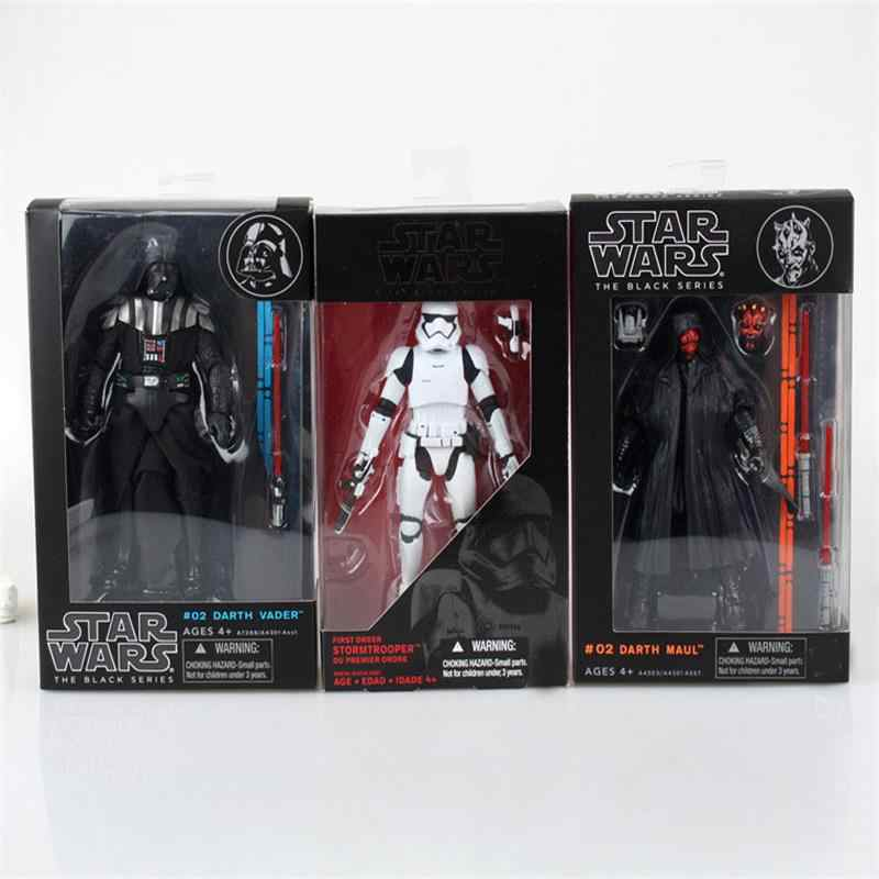 Star Wars Darth Vader Storm Trooper Darth Maul PVC Action Figure Collectible Model Toy 15-17 Cm KT1717 Hitam seri Star Wars