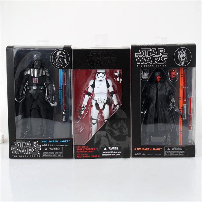 Star Wars Darth Vader Storm Trooper Darth Maul PVC Action Figure Collectible Model Toy 15-17cm KT1717 Black Series Star Wars