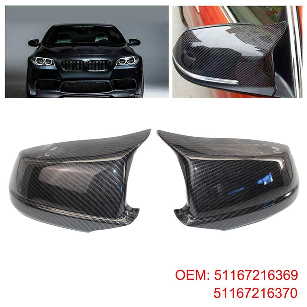 Fits For BMW F10 F11 5 Series LCI 14-16 Carbon Fiber Door Side Mirror Cover Caps