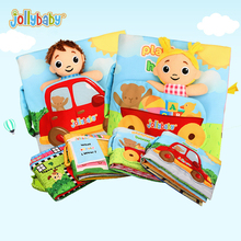 Jollybaby new early education puzzle cloth book with ring paper baby story small dolls at home