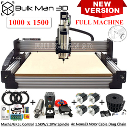 Newest Version 1015 WorkBee CNC Router 4 Axis CNC Milling Machine Full Kit Engraving Machine with Tingle Tension System