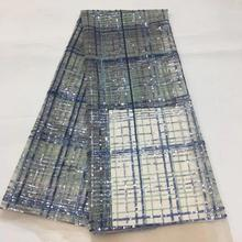 5yards/bag   Embroidery sequins square checked pattern fashionable new fabric for wedding dress design   XX56# fashionable color block and leaf pattern design satchel for women