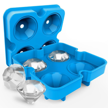 New creative kitchen supplies 4 hole silicone diamond ice box silicone 4 diamond ice box silicone ice box creative diameter 45mm silicone ice hockey single hole silicone ball ice tray ice model