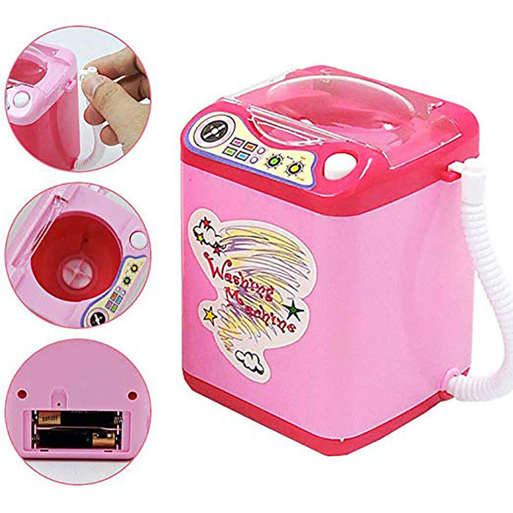 Mini Kids Sponge Battery Operated Simulation Simulated Housekeeping Pretend Play Brush Cleaning Washing Machine Toy Electric