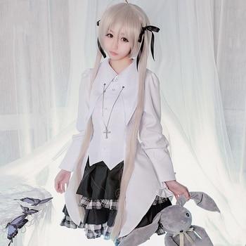 Anime Yosuga no Sora Kasugano Sora Cosplay Costume Girls Uniform Lolita Dress Outfit Carnival Halloween Party Costumes for Women 1
