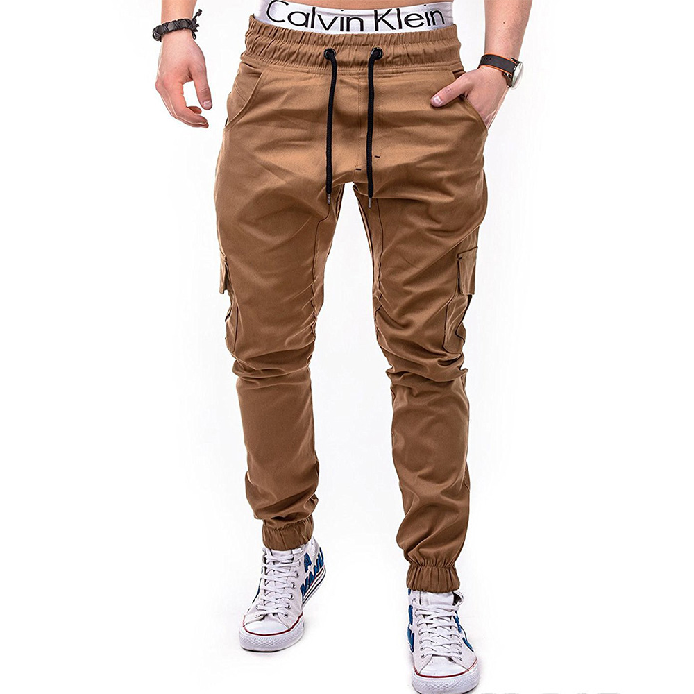 2018 New Style Men With Drawstring Elastic Sports Baggy Pants Open-seat Pants Y03