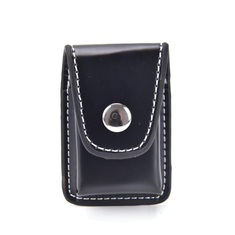 Black Windproof Cigarette Lighter Pouch Case Box Holder With Belt Loop Waist Bag
