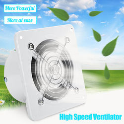 4 Inch Exhaust Fan High Speed Low Noise Toilet Kitchen Bathroom Window Ceiling Wall Glass Small Air Ventilator Extractor