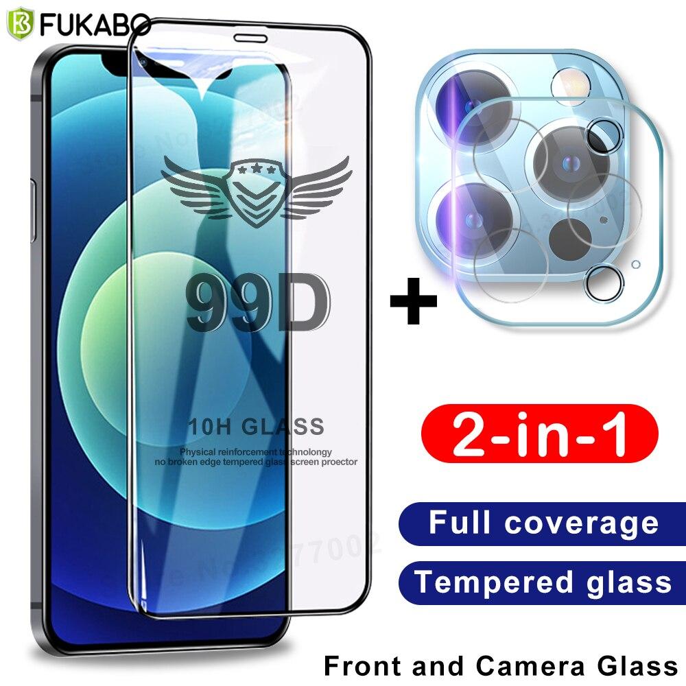 Vetro temperato a copertura totale per iPhone 11 12 Pro Max pellicola protettiva per schermo 8 7 Plus XR X XS Max 12 mini SE 2020 pellicola protettiva per fotocamera screen protector glass protezioni di schermo