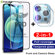 Full Cover Tempered Glass For iPhone 11 12 Pro Max Screen Protector 8 7 Plus XR X XS Max 12 mini SE 2020 Camera Protection Film