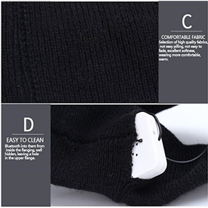 Image 5 - Winter Knitting Music Headband Headset W/ Mic Wireless Bluetooth Earphone Headphone for Running Yoga Gym Sleep Sports Earpiece